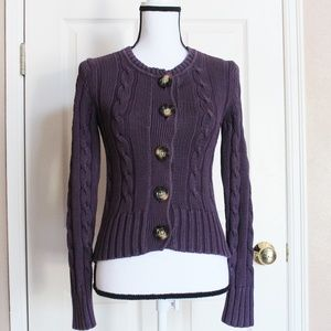 Old Navy purple button down sweater